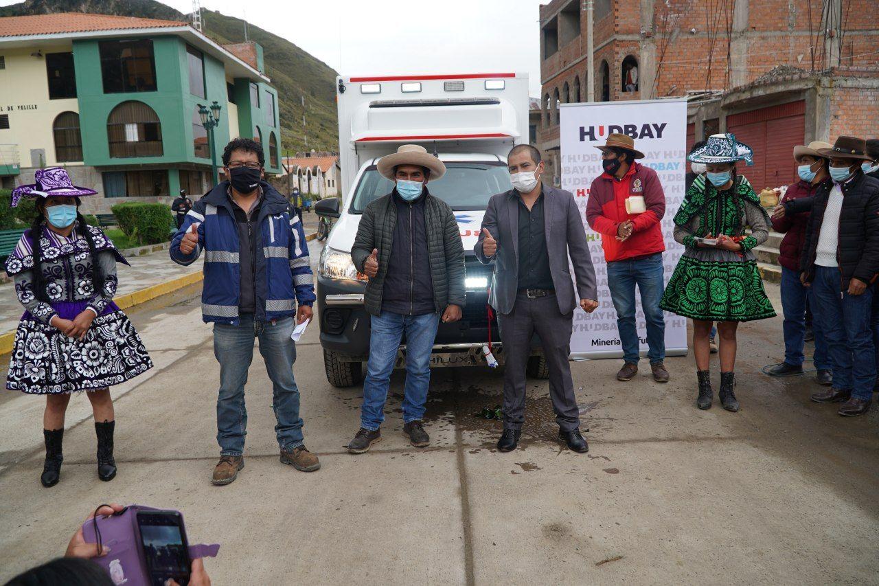Hudbay Perú dona ambulancia al distrito de Velille