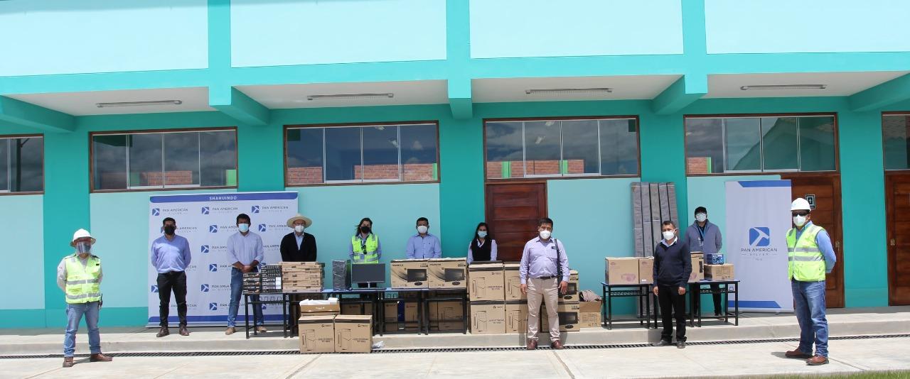 Pan American Silver construye escuelas en caserío de Cajabamba.