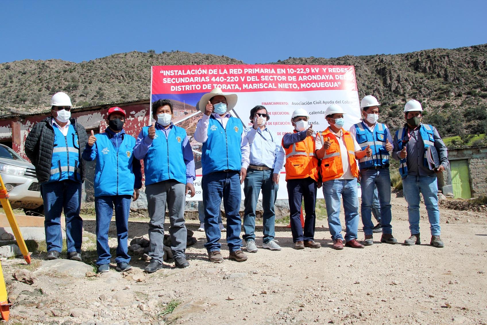 Southern Perú electrificará anexo de Arondaya en Moquegua