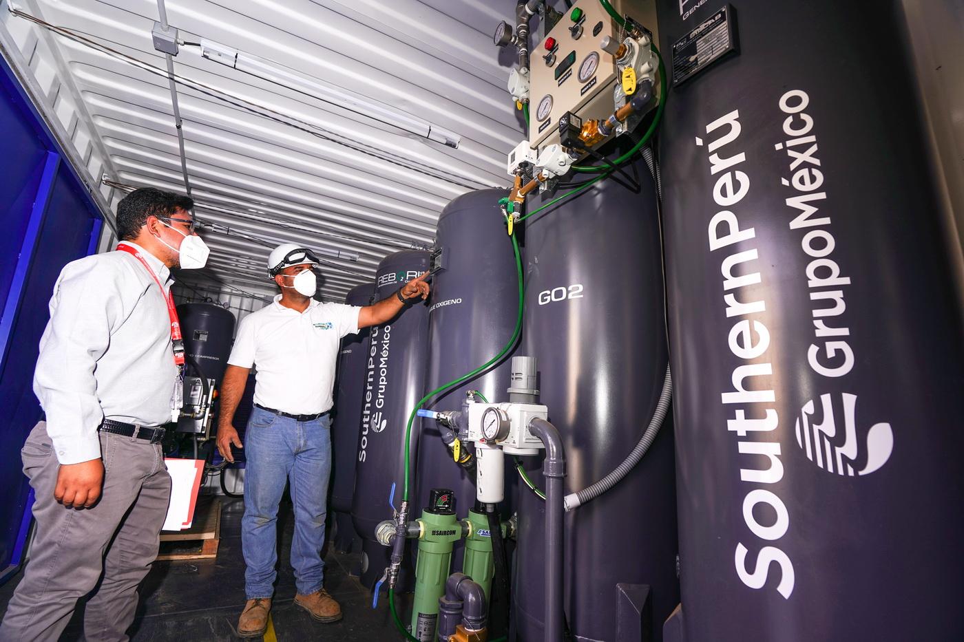 Southern Perú entrega a la región Arequipa planta generadora de oxígeno gaseoso