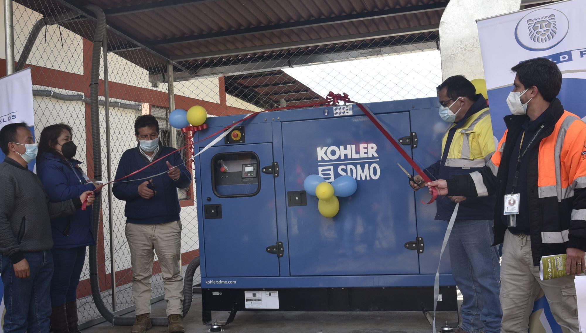 Gold Fields dona grupo electrógeno para planta de oxígeno en Hualgayoc