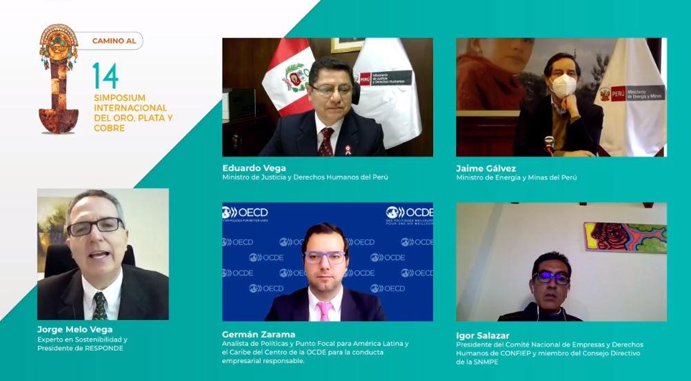 SNMPE: Ministro de Justicia reconoce la participación del sector minero energético en el Plan Nacional de Derechos Humanos